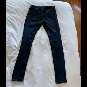Express Soft Mid Rise Dark Jean Stretch Legging 8L
